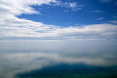 Photograph - Lake Michigan's Lost Horizon by Mary Lee Dereske
