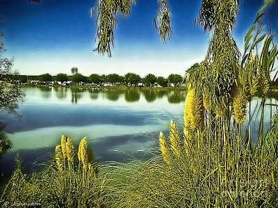 Indiana Landscapes Digital Art - Lake Mindon Campground California by Bob and Nadine Johnston