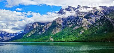 Photograph - Lake Minnewanka by Carolyn Derstine