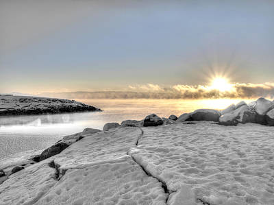 Lake Mjosa Inlet Print by Chris Shirley