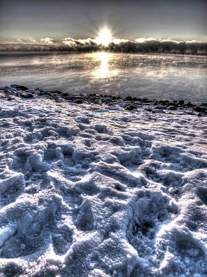 Lake Mjosa Sunset Art Print by Chris Shirley