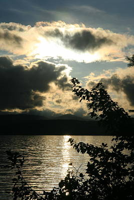 Photograph - Lake Mountain Sunset View  by Neal Eslinger