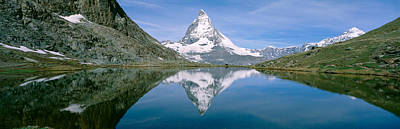 Lake, Mountains, Matterhorn, Zermatt Art Print by Panoramic Images