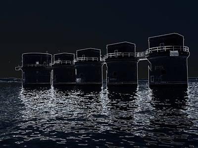 Photograph - Lake Murray Sc Dam-edited by Lisa Wooten