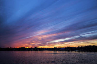 Photograph - Lake Murray Sunset-1 by Charles Hite