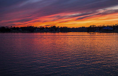 Photograph - Lake Murray Sunset-2 by Charles Hite