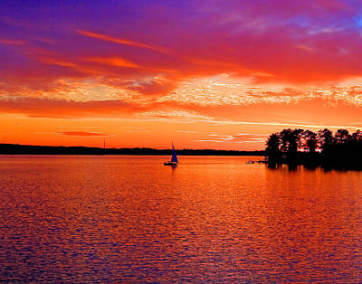 Lake Murray Sunset Art Print