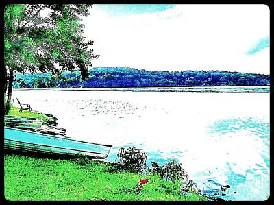Photograph - Lake Musconetcong Boat In Netcong New Jersey 2 by Becky Lupe