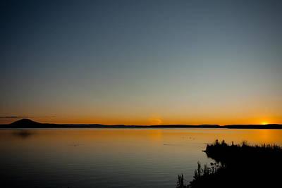 Photograph - Lake Myvatn Sunset by Anthony Doudt