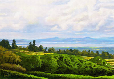 Lake Naivasha From Home Art Print by Anthony Mwangi