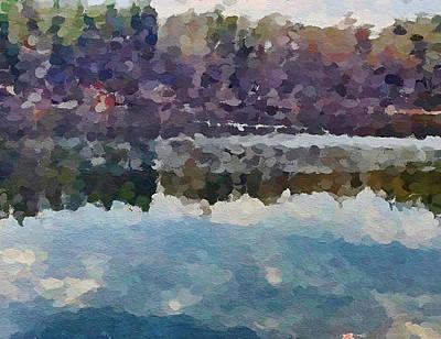 Digital Art - Lake Nature 2 by Yury Malkov