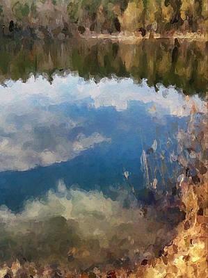 Digital Art - Lake Nature by Yury Malkov
