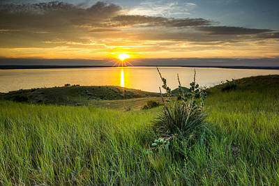 Lake Oahe Sunset Art Print