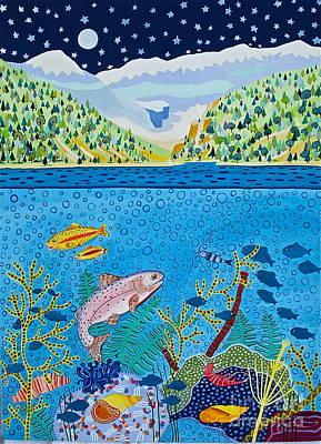 Banff Artist Painting - Lake Of Little Fishes by Virginia Ann Hemingson