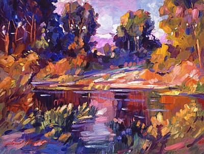 Plein Air Painting - Lake Of Silence by David Lloyd Glover