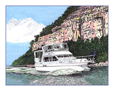The Main Painting - Yachting On The Lake Of The Ozarks by Jack Pumphrey