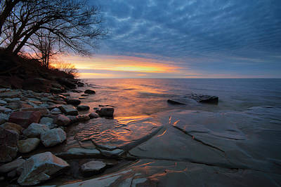 Lake Ontario At Sunset Art Print by Tracy Welker