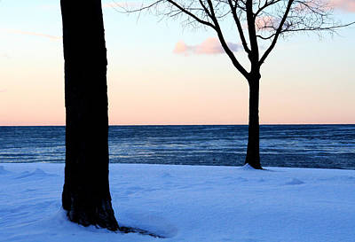 Cottage Photograph - Lake Ontario Winter Sunset by Heather Allen