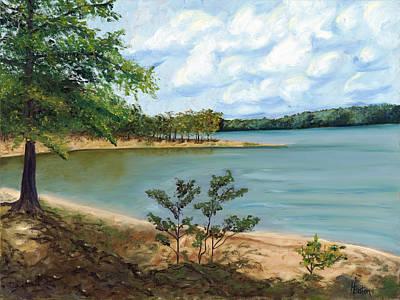 Lake Ouachita Art Print by Helen Eaton