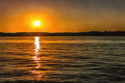 Photograph - Lake Ouachita Sunset by CarolLMiller Photography