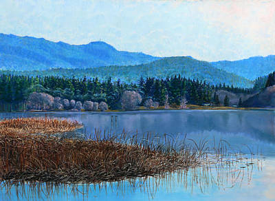 Painting - Lake Padden - View Near Gosset Bench by Nick Payne