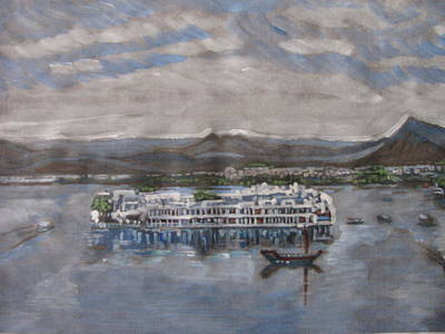 Lake Palace Art Print