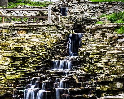 Photograph - Lake Park Waterfall 2 by Randy Scherkenbach
