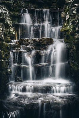 Overcast Photograph - Lake Park Waterfall 2 by Scott Norris