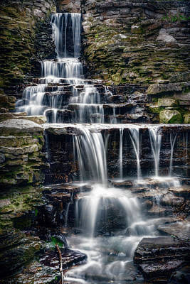 Abstract Stripe Patterns - Lake Park Waterfall by Scott Norris