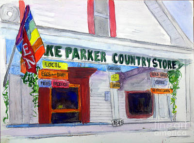 Lake Parker Country Store Art Print by Donna Walsh