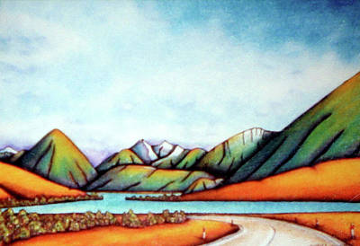 Painting - Lake Pearson 1999 Si Nz by Barbara Stirrup