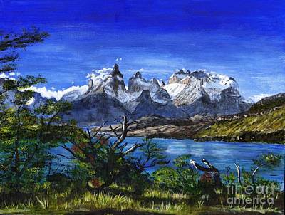 Tim Painting - Lake Pehoe And Cuernos Painting by Timothy Hacker