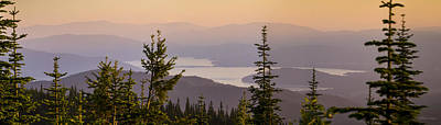 Photograph - 140701a-036 Lake Pend Oreille At Sunset by Albert Seger