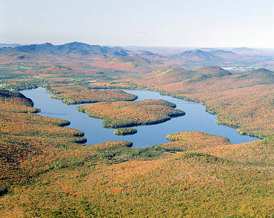 Lake Placid In Autumn, Adirondack, New Art Print by Panoramic Images