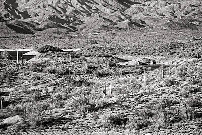 Photograph - Lake Pleasant Vista In Black And White by Lee Craig