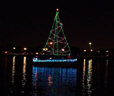 West End Boat Parade - Lights On The Lake, Lake Pontchartrain, New Orleans La Art Print