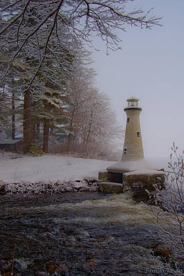 Art Print featuring the photograph Lake Potanipo Lighthouse by Brenda Jacobs