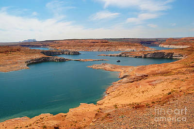 Photograph - Lake Powel And Glen Canyon Dam by Debra Thompson