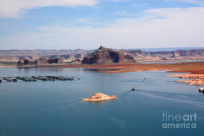 Photograph - Lake Powell And Castle Rock by Debra Thompson