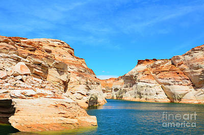 Photograph - Lake Powell Antelope Canyon by Debra Thompson