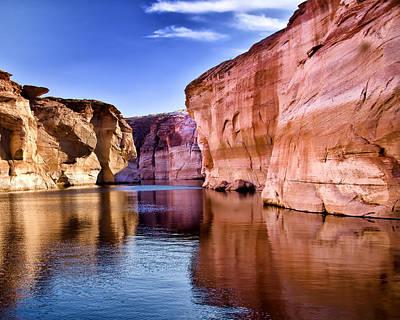 Canyon Lake Photograph - Lake Powell Antelope Canyon by Jon Berghoff