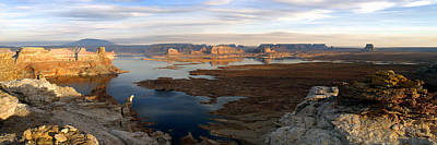 Photograph - Lake Powell From Alstrum Pt Pan 2 by Jeff Brunton
