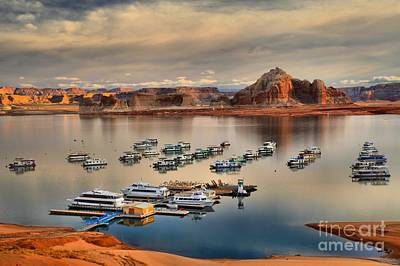 Wahweap Photograph - Lake Powell Reflections by Adam Jewell