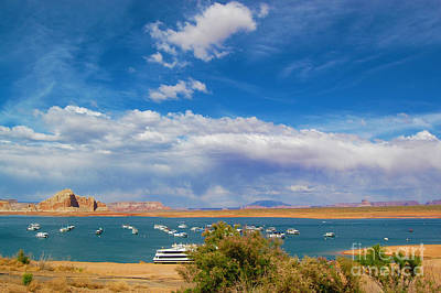 Photograph - Lake Powell Resort View Of Storm by Debra Thompson