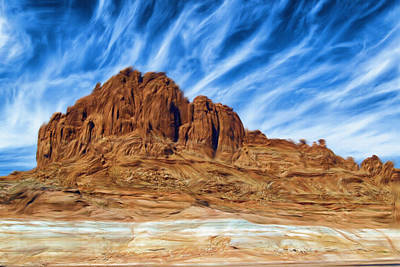 Pastoral Digital Art - Lake Powell Rocks by Ayse Deniz