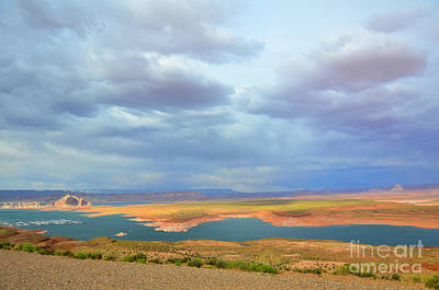 Photograph - Lake Powell Stormy Weather by Debra Thompson