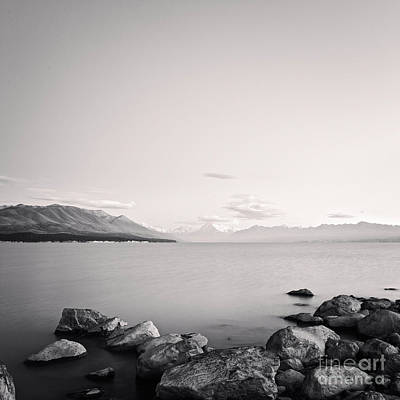 Minimalist Photograph - Lake Pukaki And Mount Cook New Zealand. by Colin and Linda McKie