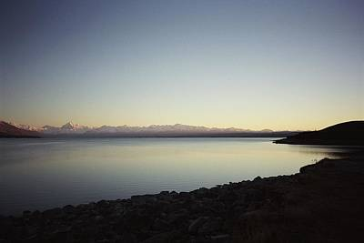 Photograph - Lake Pukaki First Light by Peter Mooyman