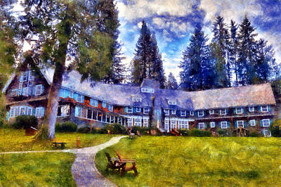 Digital Art - Lake Quinault Lodge by Kaylee Mason