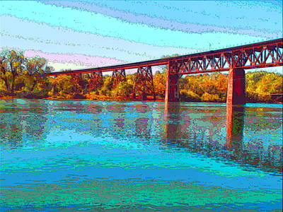 Friendly Digital Art - Lake Redding Ca Digital Painting by Joyce Dickens